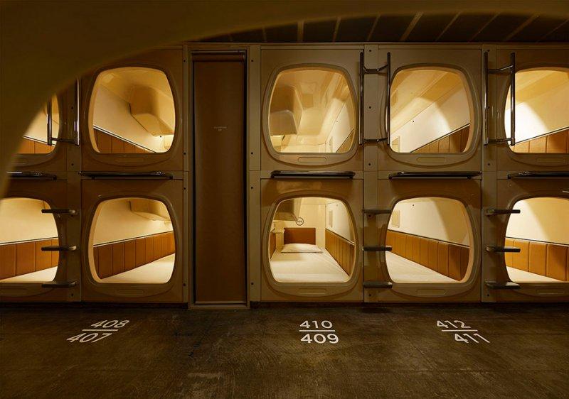 Hotelul capsulă din Tokyo